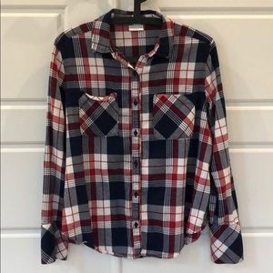 Abound Flannel. Red/Blue/White. Medium.